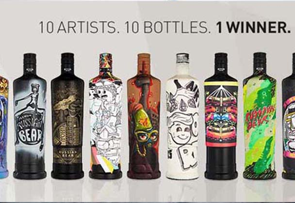 VOTE FOR THE NEXT RUSSIAN BEAR VODKA LIMITED EDITION DESIGN