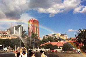 Coca-Cola creates rainbows in JHB  to celebrate RainbowNation