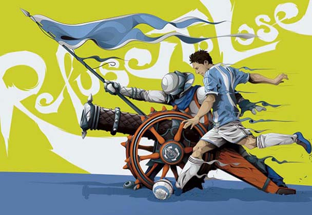 Soccer World Cup Stars In Battle – Illustrated by Man-Tsun