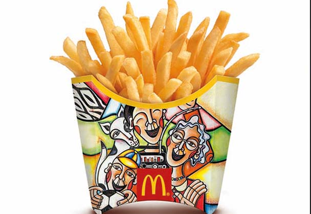SA artist gives iconic McDonald's Fry Box a World Cup make over