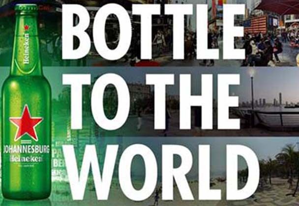 Open Your World with Heineken's Bottle to the World