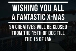 SA Creatives will re-open on the 15th of Jan. MERRY X-MAS