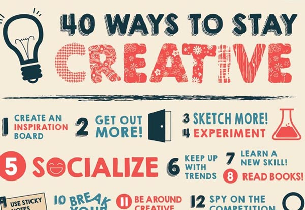 40 Ways to Stay Creative [infographic]