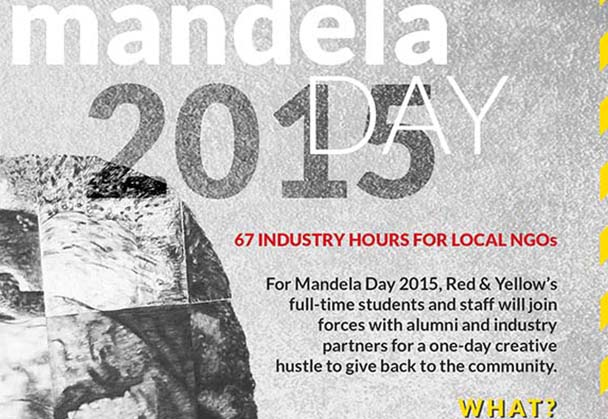 Red & Yellow School donates 67 creative industry hours to NPOs in honour of Mandela Day