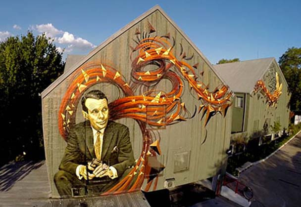 400sqm mural of David Ogilvy unveiled to celebrate agency's 30-year milestone
