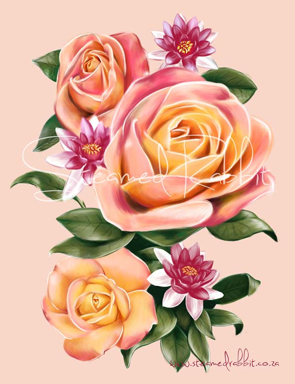 Roses and Lotuses wm