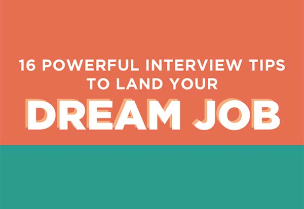 16 interview tips to land your dream job