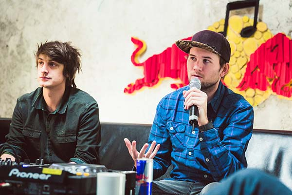 Camo and Krooked give a lecture at Red Bull Music Academy Bass Camp in Vienna, Vienna on January 29th, 2016 // Victoria Kager / Red Bull Content Pool // P-20160130-00155 // Usage for editorial use only // Please go to www.redbullcontentpool.com for further information. //