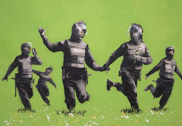 Eleborate Banksy exhibition in new museum in Amsterdam