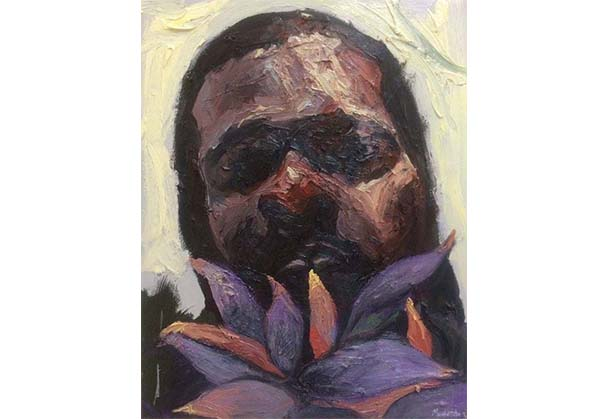 """Ronald Muchatuta exhibits """"Self Portrait"""" at the Contemporary Painting Group Exhibition in London"""