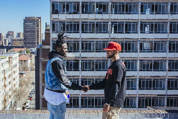 Stilo Magolide and Youngsta talk music on JHB rooftop (Jonathan FerreiraRed Bull Content Pool)