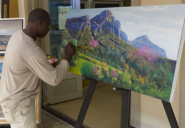 Car guard turned artist finally finds a home!