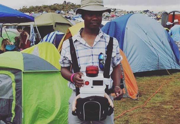 LOCAL COMEDIAN LOYISO MADINGA TAKES BABY TO MUSIC FESTIVAL