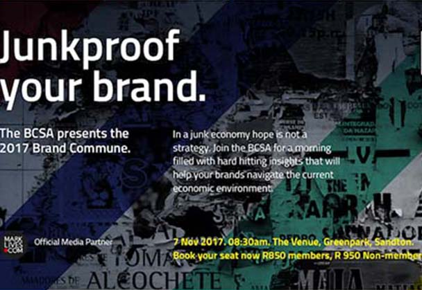 "Brand Council SA – Brand Commune 2017 "" Brand Survival in a Junk Economy"""