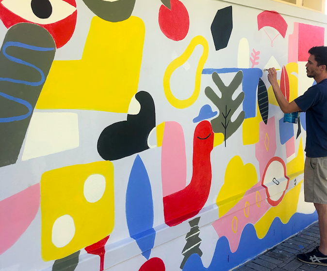 Inspiring new AR mural brings public and digital realms alive with colour