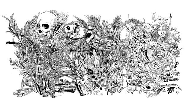 Doodle addict and illustrator Seth Beukes shows us his skill