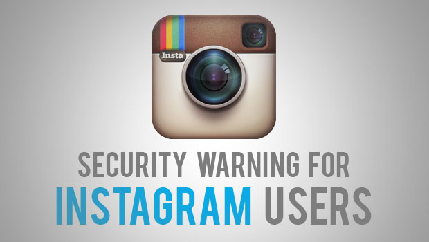 Security warning for Instagram users