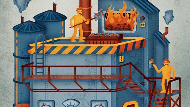 Illustration pieces by Justin Southey and Bruce Mackay