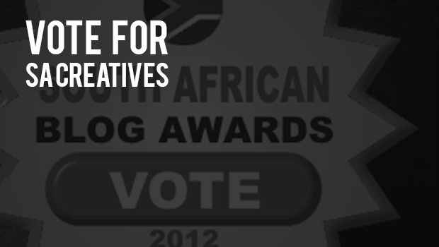 SA Creatives chasing an award and with your help we can win. #VOTE
