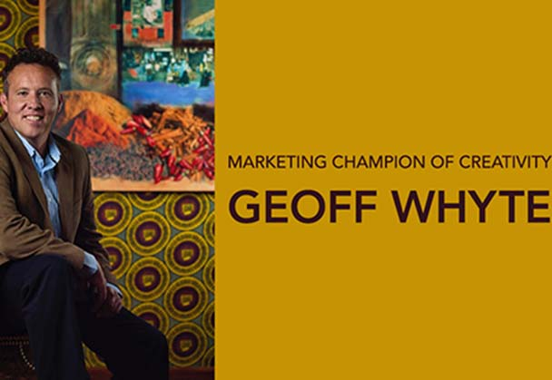 GEOFF WHYTE AWARDED CREATIVE CHAMPION BY THE CREATIVE CIRCLE