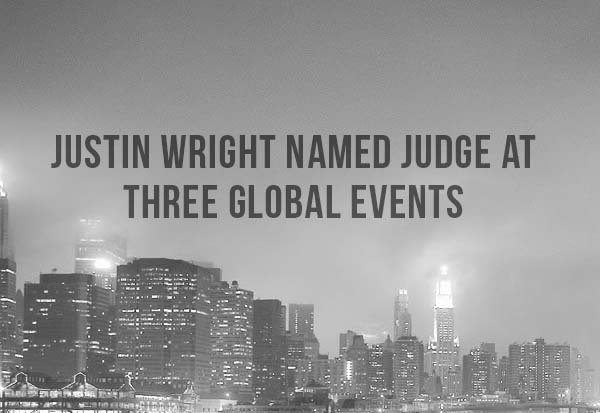 Justin Wright named judge at three global events