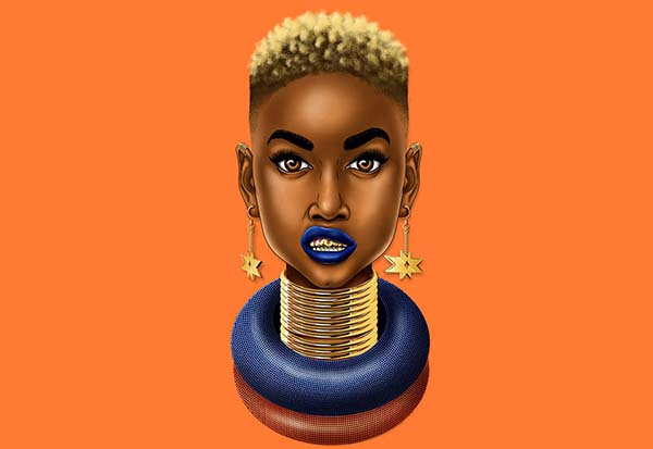 Traditional  pop culture illustrations by-Thabiso Mbambo