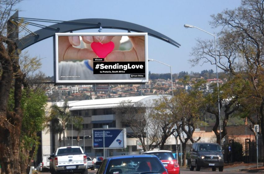 Primedia Outdoor Supports #SendingLove