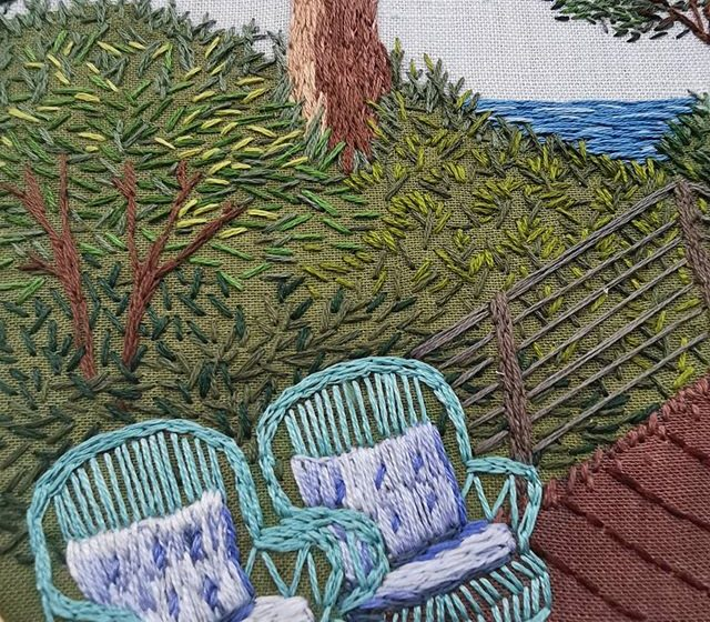 Checkout Artist Keren Setton's Embroidery