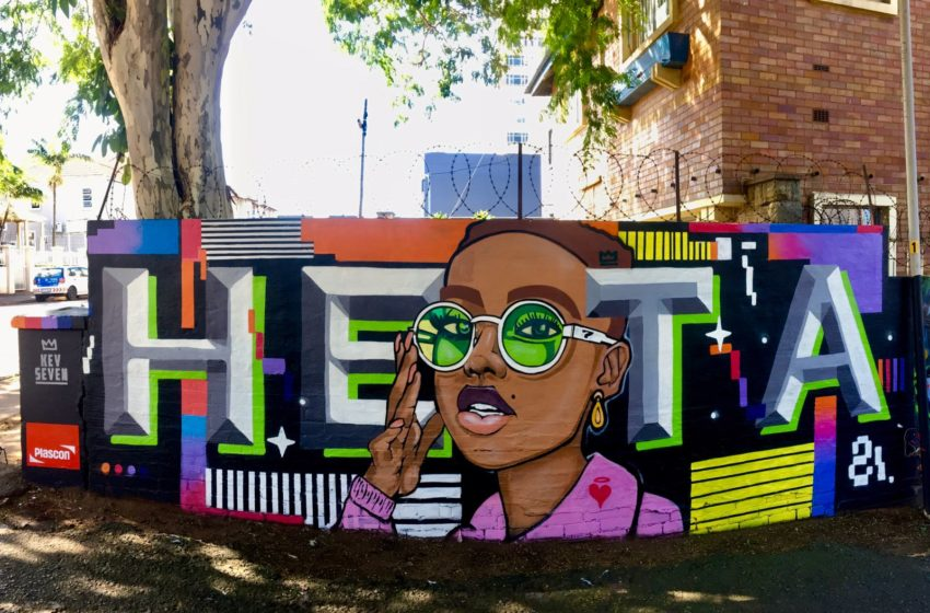 Plascon and Durban artist pay tribute to Afro-futurism in a welcoming, colourful mural